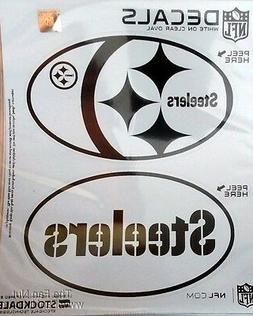 Pittsburgh Steelers 2-Pack EURO STYLE Oval Home Auto Decals