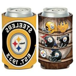 PITTSBURGH STEELERS 2 SIDED NEOPRENE CAN BOTTLE COOZIE COOLE