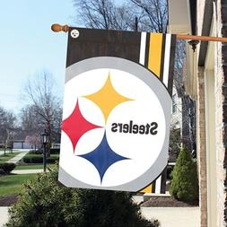 Pittsburgh Steelers 24 x 36 Bold Logo Banner Flag