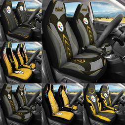 Pittsburgh Steelers 2PCS Car Seat Covers SUV Pickup Universa