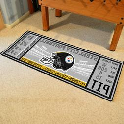 "Pittsburgh Steelers 30"" X 72"" Ticket Runner Area Rug Floor M"