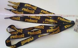 pittsburgh steelers 33 shoelaces black gold official