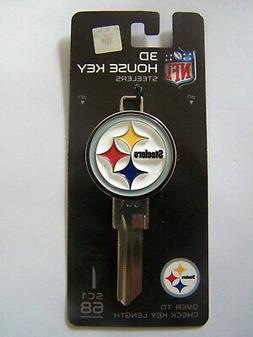 Pittsburgh Steelers 3D Schlage SC1 house key blank