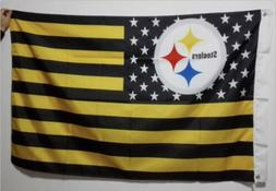 Pittsburgh Steelers 3x5 Ft American Flag Football New In Pac
