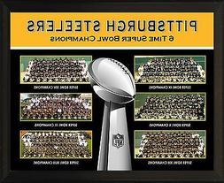 "PITTSBURGH STEELERS 6 Super Bowl Championship Teams 8x10"" Pl"