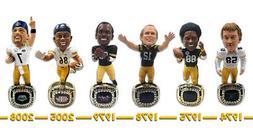 Pittsburgh Steelers 6X Super Bowl Champ Ring Base NFL Bobble
