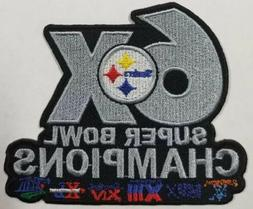 Pittsburgh Steelers~6X Super Bowl Champs Iron on Patch~Free