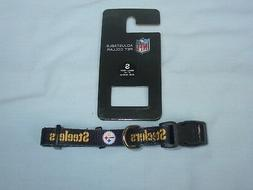 "PITTSBURGH STEELERS  9""- 14"" long DOG/PET COLLAR  size Small"