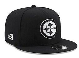 Pittsburgh Steelers New Era 9Fifty Black White Logo Adjustab