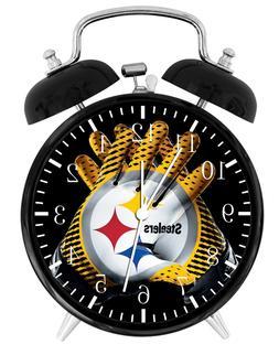 "Pittsburgh Steelers Alarm Desk Clock 3.75"" Home or Office De"