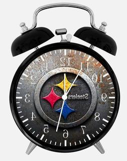 "Pittsburgh Steelers Alarm Desk Clock 3.75"" Room Office Decor"
