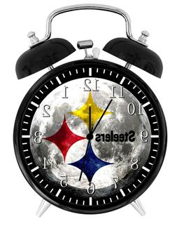 Pittsburgh Steelers Alarm Desk Clock Home or Office Decor F3