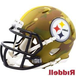 Pittsburgh Steelers Alt Camo Riddell Speed Mini Helmet - New