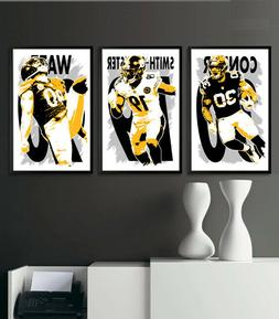 PITTSBURGH STEELERS art print/poster FAN PACK #1 3 PRINTS! T