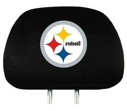 Pittsburgh Steelers Auto Head Rest Covers 2 Pack  NFL Car Se
