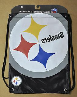 Pittsburgh Steelers Back Pack/Sack Drawstring Bag/Tote NEW B