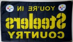 Pittsburgh Steelers Banner 3x5 ft Flag Man Cave Decor Steele