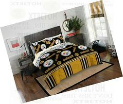 PITTSBURGH STEELERS BEDDING SET QUEEN NFL FOOTBALL BED PILLO