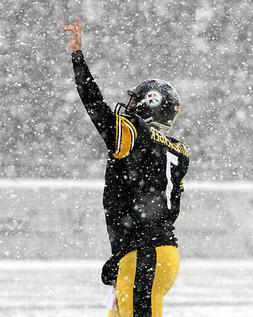 Pittsburgh Steelers BEN ROETHLISBERGER Glossy 8x10 Photo Spo