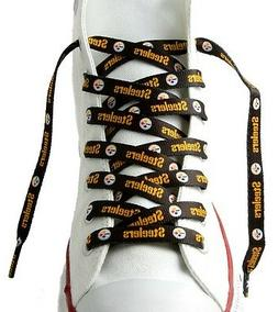 pittsburgh steelers black team shoe laces 54