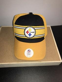 Pittsburgh Steelers Team Apparel Black Yellow Trucker Hat Ad