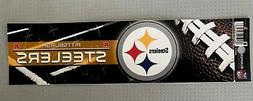 """Pittsburgh Steelers Bumper Sticker 3"""" X 11"""" New By Rico NFL"""