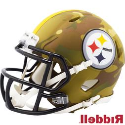 Pittsburgh Steelers Camo Alternate Riddell Speed Mini Helmet