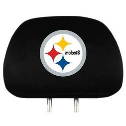PITTSBURGH STEELERS CAR AUTO 2 TEAM HEADREST COVERS NFL FOOT
