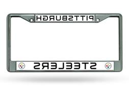 PITTSBURGH STEELERS CAR AUTO CHROME METAL LICENSE PLATE TAG