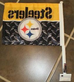Pittsburgh STEELERS Car Window Mount Flag NFL