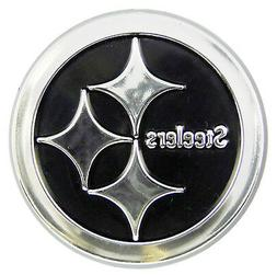 Pittsburgh Steelers CE Raised Silver Chrome Colored Auto Emb