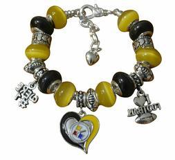 Pittsburgh Steelers Charm Bracelet - Steelers Bracelet & Ste