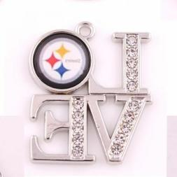 Pittsburgh Steelers charms & earrings, Your choice. Buy 4 an