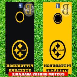 Pittsburgh Steelers Corn hole Board Decals Set of 6 Vinyl De