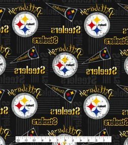 "PITTSBURGH STEELERS COTTON FABRIC FQ 1/4yd 18""x28"" pennant"