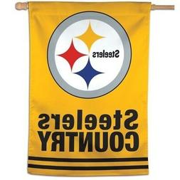 PITTSBURGH STEELERS COUNTRY ~  Official NFL 28x40 Outdoor Ho