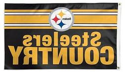 Pittsburgh Steelers COUNTRY WC04169115 3x5 Deluxe Flag Outdo