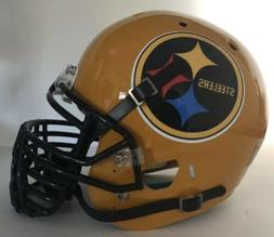 Pittsburgh Steelers Custom Full Size Authentic Schutt Footba
