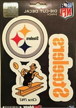 Pittsburgh Steelers Decals NFL ProMark Die-Cut Stickers 3 Pa