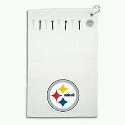Pittsburgh Steelers Deluxe Golf Gift Set 15x25 Towel Logo Ba