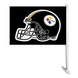 Pittsburgh Steelers Double Sided Car Football Flags Banners