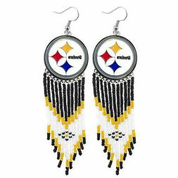 Pittsburgh Steelers Dreamcatcher Earrings NFL Authentic by L