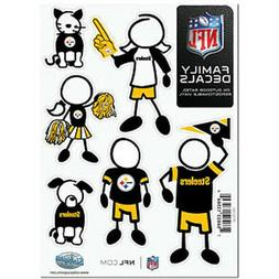 Pittsburgh Steelers Family Decals 6 Pack  Auto Car Stickers