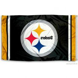 PITTSBURGH STEELERS FLAG 3'X5' NFL TEAM LOGO BANNER: FREE SH