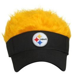 NFL PITTSBURGH STEELERS  FLAIR HAIR VISOR MEN'S ADJUSTABLE