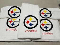 Pittsburgh Steelers Football Bath Towel Set, Personalized Sp
