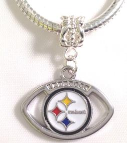 Pittsburgh Steelers Football Charm NFL For Euro Bracelet Fas
