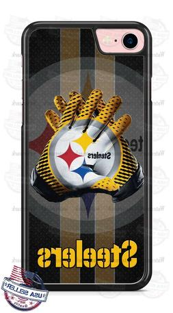 Pittsburgh Steelers Football Gloves Phone Case for iPhone X