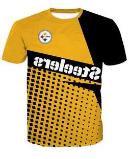 Pittsburgh Steelers Football T-Shirt Sports Summer Short Sle