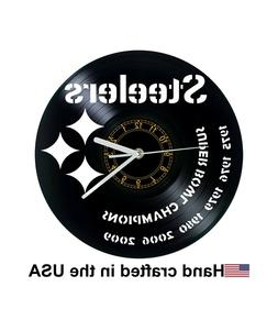 Pittsburgh Steelers Football Vinyl Clock xmas gift, Wall clo